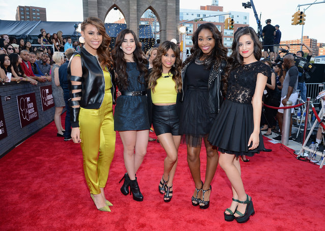 (L-R) Dinah Jane Hansen, Lauren Jauregui, Ally Brooke, Normani Kordei and Camila Cabello of Fifth Harmony attend the 2013 MTV Video Music Awards at the Barclays Center on August 25, 2013 in the Brooklyn borough of New York City. (Photo by Larry Busacca/Getty Images for MTV)