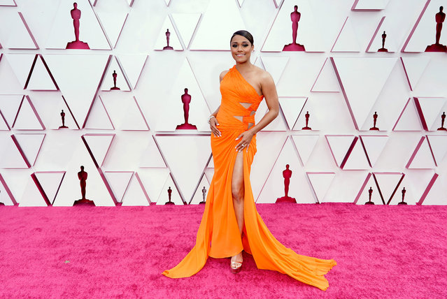 Ariana DeBose attends the 93rd Annual Academy Awards at Union Station on April 25, 2021 in Los Angeles, California. (Photo by Chris Pizzelo-Pool/Getty Images)