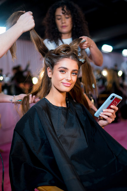 Taylor Hill poses before the 2018 Victoria's Secret Fashion Show at Pier 94 on November 8, 2018 in New York City. (Photo by Michael Stewart/FilmMagic)