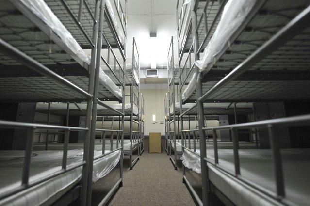 A bedroom dormitory is seen in a former Regional Government HQ Nuclear bunker built by the British government during the Cold War which has come up for sale in Ballymena, Northern Ireland February 4, 2016. (Photo by Clodagh Kilcoyne/Reuters)