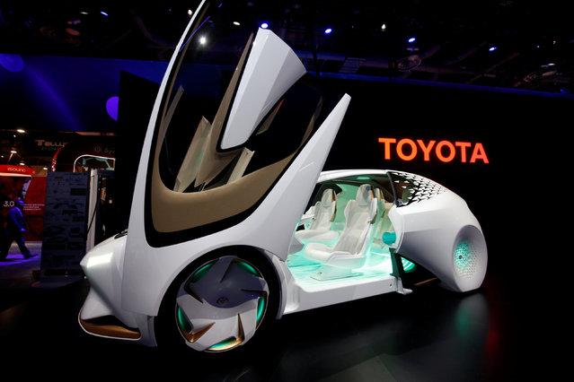 A Toyota Concept-i is displayed during the 2017 CES in Las Vegas, Nevada January 5, 2017. (Photo by Steve Marcus/Reuters)