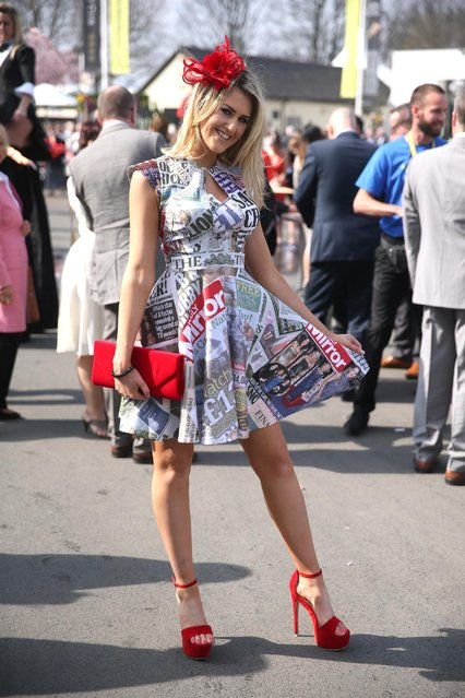 Horse Racing – Crabbie's Grand National Festival – Aintree Racecourse April 10, 2015: A Racegoer poses at the Grand National Festival on ladies day. (Photo by Matthew Childs/Reuters)
