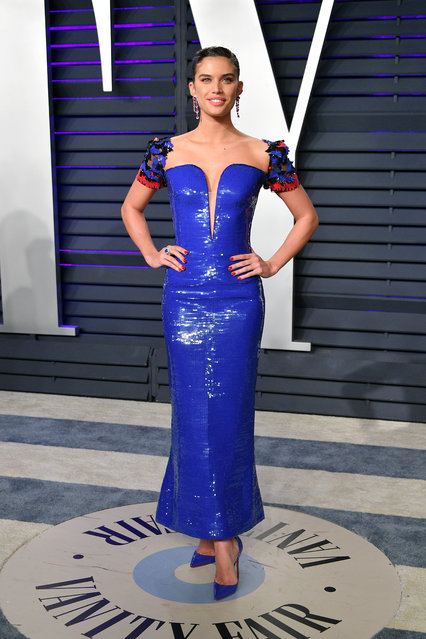 Sara Sampaio attends the 2019 Vanity Fair Oscar Party hosted by Radhika Jones at Wallis Annenberg Center for the Performing Arts on February 24, 2019 in Beverly Hills, California. (Photo by Dia Dipasupil/Getty Images)