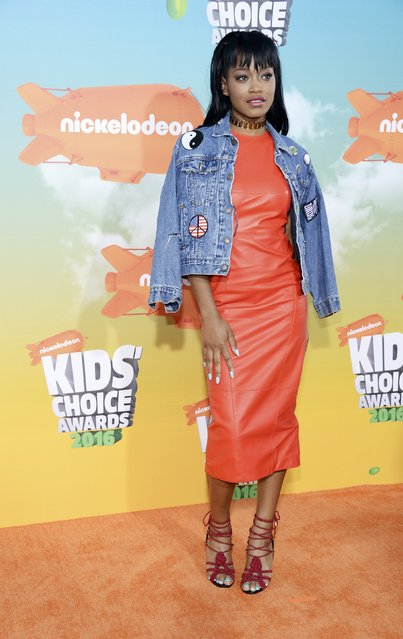Actress Keke Palmer arrives at Nickelodeon's Kids' Choice Awards in Inglewood, California March 12, 2016. (Photo by Phil McCarten/Reuters)