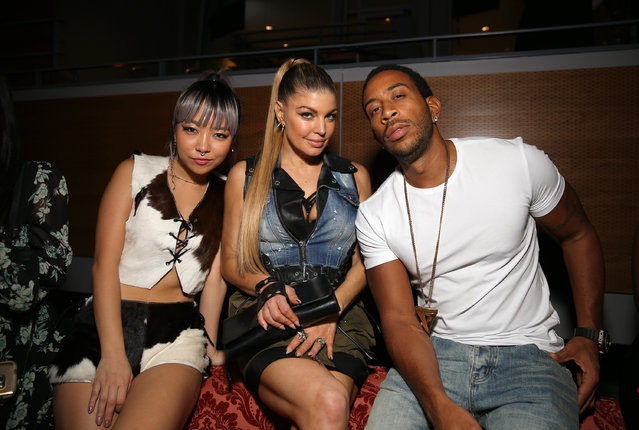 (L-R) Musician JinJoo Lee of DNCE, singer Fergie, and rapper/actor Ludacris attend the Maxim Super Bowl Party on February 5, 2017 in Houston, Texas. (Photo by Tasos Katopodis/Getty Images for Maxim)