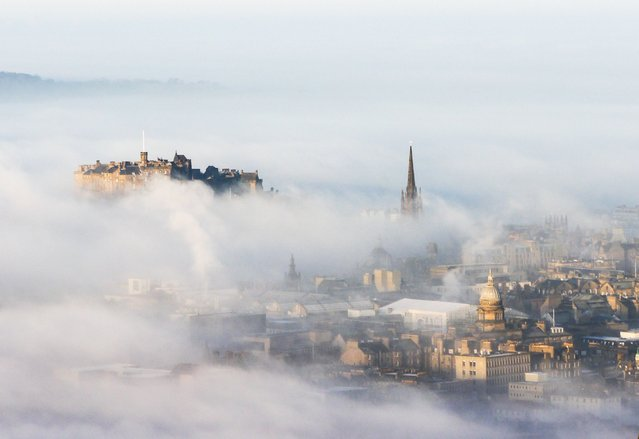 City of Edinburgh shrouded in frozen fog in Edinburgh, Scotland, January 21, 2017. (Photo by Geoff Robinson Photography/Rex Features/Shutterstock)