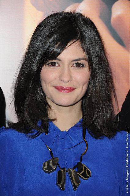 Audrey Tautou attend 'La Delicatesse' Paris Premiere