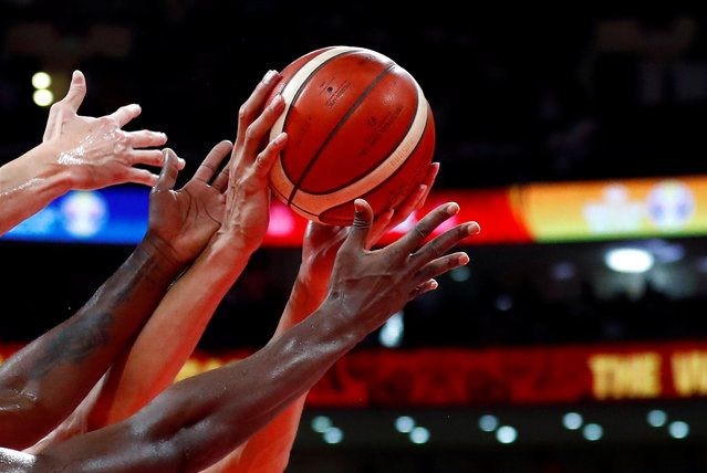 General view during First Round Group A basketball game Ivory Coast v China in the FIBA Basketball World Cup at the Wukesong Arena in Beijing, China on August 31, 2019. (Photo by Thomas Peter/Reuters)