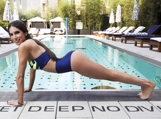 For Pulse. Social media / exercise guru Jen Selter models swimsuits at the Dream Hotel on May 2, 2014. Styled by Johannah Masters, hair by Trevor Bowden, makeup by Caitlin Wooters. (Photo by Anne Wermiel/NY Post)