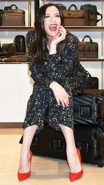 Actress Liv Tyler enjoys visiting Ginza Six department store on April 20, 2017 in Tokyo, Japan. (Photo by Jun Sato/GC Images)