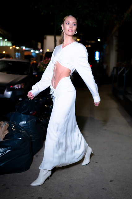 Candice Swanepoel is seen in Tribeca on November 06, 2019 in New York City. (Photo by Gotham/GC Images)