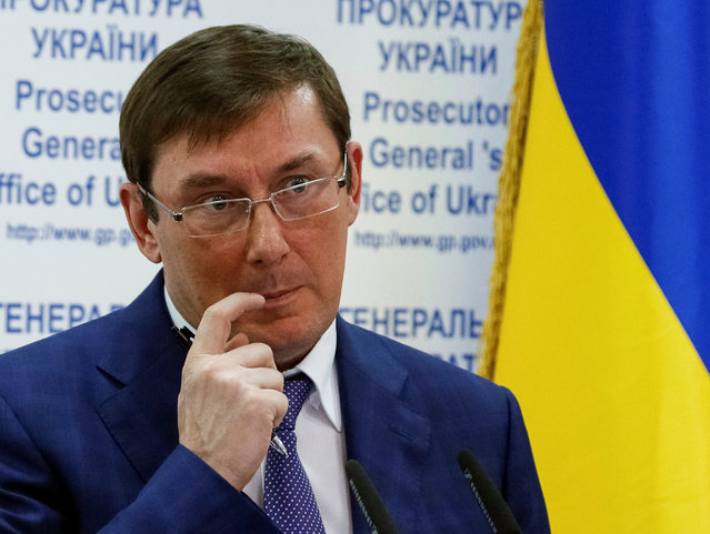 Prosecutor-general of Ukraine Yuri Lutsenko attends a news conference in Kiev, Ukraine, May 30, 2016. (Photo by Gleb Garanich/Reuters)