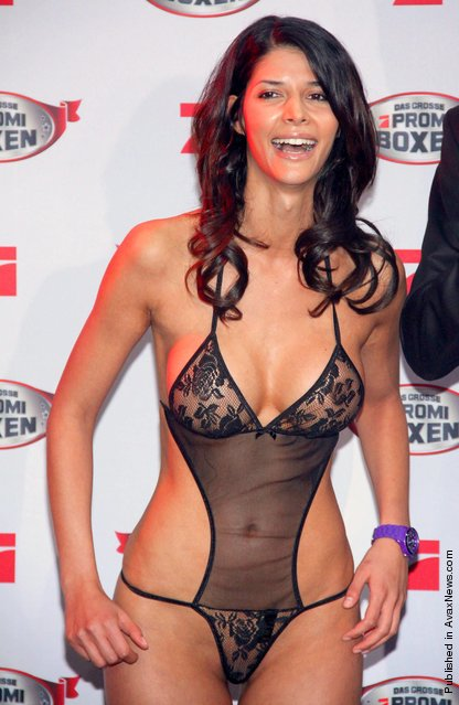 Micaela Schaefer attend the Celebrity Boxing Press Conference