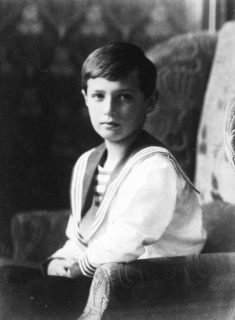 Alexis, Tsarevich of Russia (1904–1918), the son of Emperor Nicholas II of Russia, circa 1913.