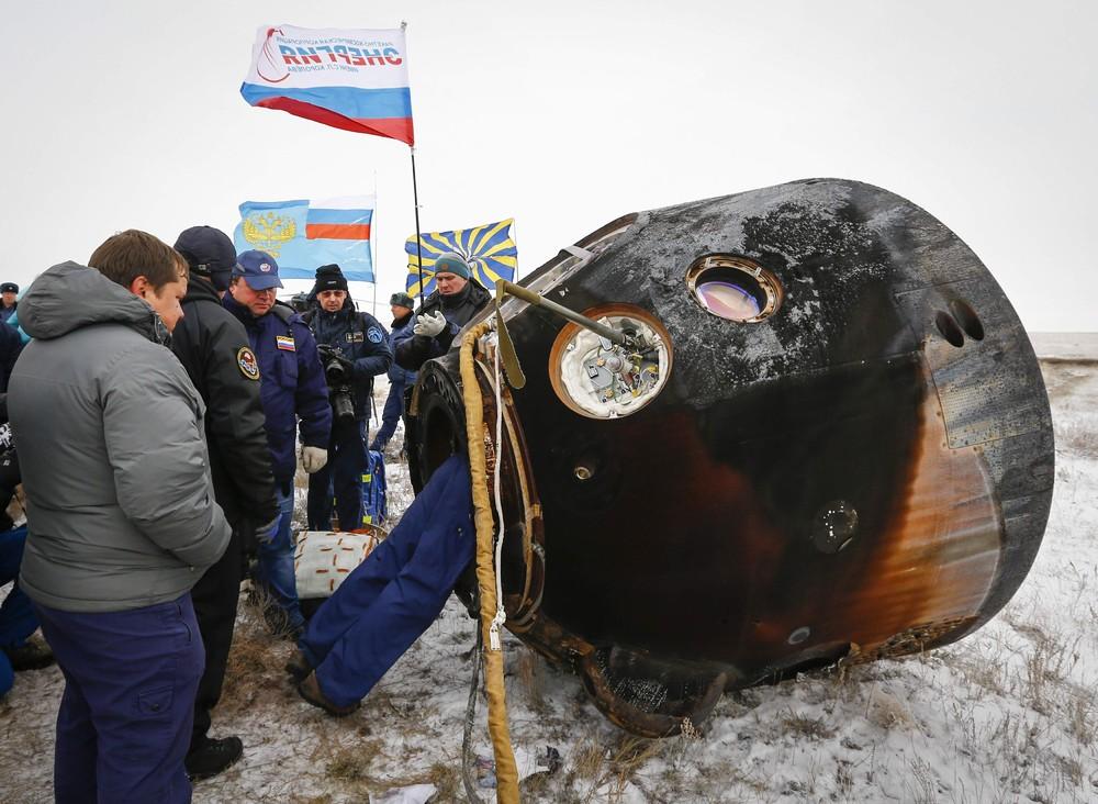 Soyuz TMA-13M Returns Crew Back to Earth