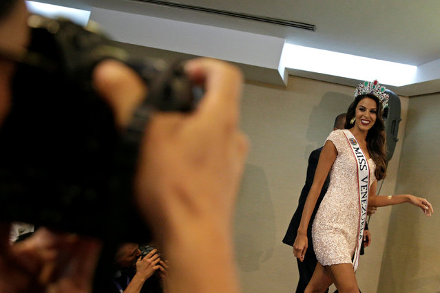 Miss Venezuela 2016 Keysi Sayago arrives for a news conference in Caracas, Venezuela October 6, 2016. (Photo by Marco Bello/Reuters)