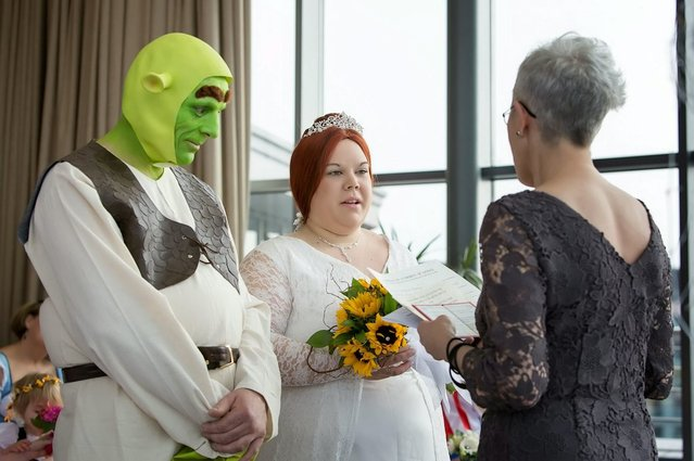 Shrek Wedding By Paul Bellas and Heidi Coxshall