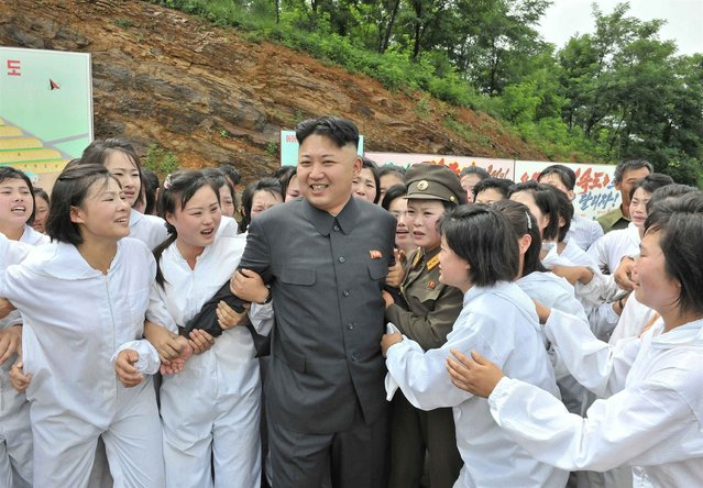 North Korean leader Kim Jong-un visits a Mushroom Farm in this undated photo released by North Korea's Korean Central News Agency (KCNA) in Pyongyang July 16, 2013. (Photo by Reuters/KCNA)