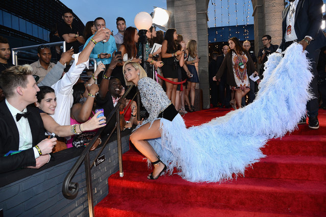 Rita Ora attends the 2013 MTV Video Music Awards at the Barclays Center on August 25, 2013 in the Brooklyn borough of New York City. (Photo by Larry Busacca/Getty Images for MTV)