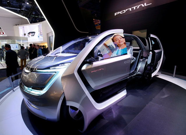 A Chrysler Portal electric concept minivan is displayed during the 2017 CES in Las Vegas, Nevada January 5, 2017. (Photo by Steve Marcus/Reuters)