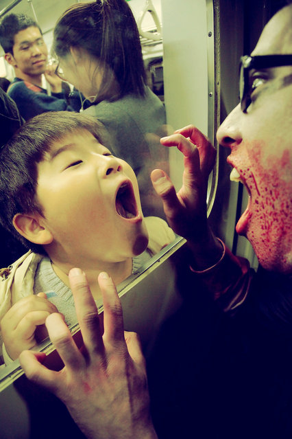 """Zombie Friend"". Seoul Zombie Walk 2010. (Photo by Taylor Sloan)"