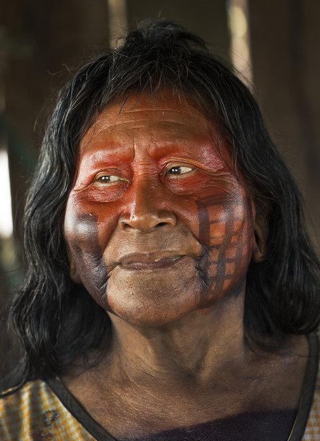 K pri, who is the one female elder at Poti-Kr , is a renowned storyteller. She tells the stories from memory with her husband, Bepoti, sitting by her to confirm details. However, her audience is shrinking as she increasingly competes with new diversions such as television. (Taylor Weidman)