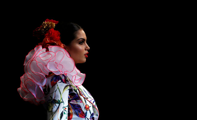 A model presents a creation by Veronica de la Vega during the International Flamenco Fashion Show SIMOF in the Andalusian capital of Seville, Spain February 8, 2019. (Photo by Marcelo del Pozo/Reuters)