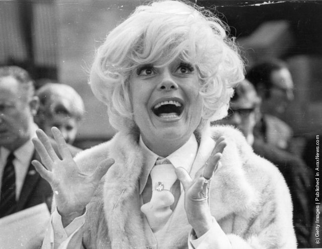 1970: Carol Channing the American actress, arrives in London for a four-week season at London's Drury Lane Theatre