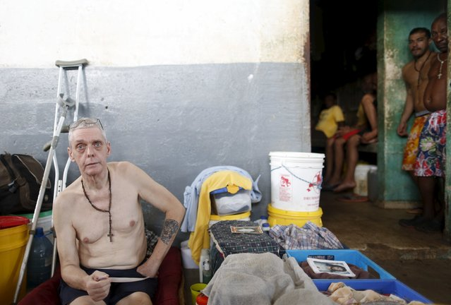 A Dutch inmate Petrus sits in his provisional cell at the Pavilion No.6 assigned to foreigners at La Joya prison on the outskirts of Panama City, Panama November 13, 2015. (Photo by Carlos Jasso/Reuters)