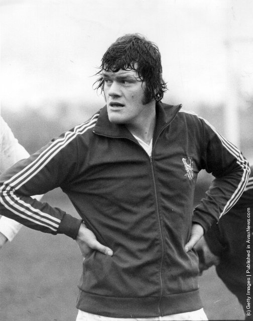 1975: The captain of the English rugby team, Fran Cotton