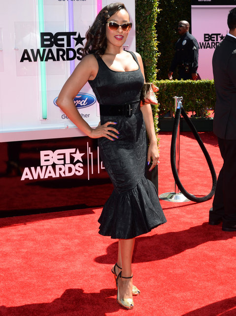 Actress Jennia Fredrique attends the BET AWARDS '14 at Nokia Theatre L.A. LIVE on June 29, 2014 in Los Angeles, California. (Photo by Earl Gibson III/Getty Images for BET)