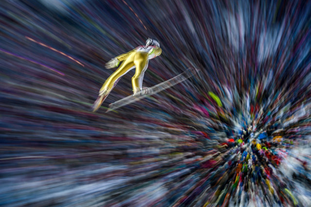 Kevin Bickner of the United States competes in the Men's Ski Jumping HS100 Final during the FIS Nordic World Ski Championships on February 25, 2017 in Lahti, Finland.  (Photo by Matthias Hangst/Getty Images)