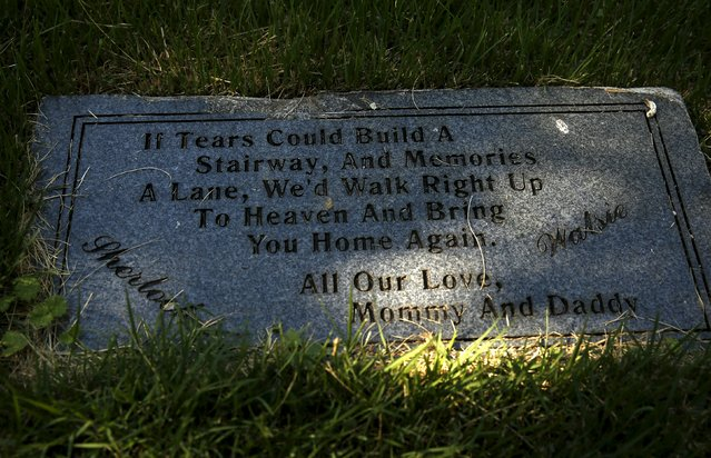 A poignant message is seen near a family dog burial site at the Aspin Hill Memorial Park in Aspen Hill, Maryland, July 22, 2015. (Photo by Gary Cameron/Reuters)