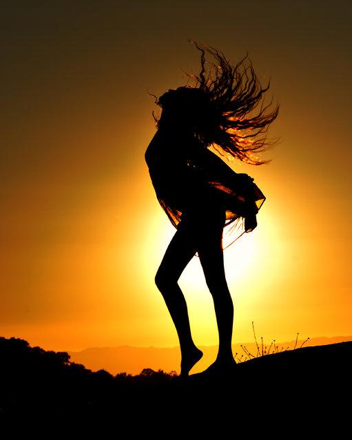 She Frolicks At Sunset