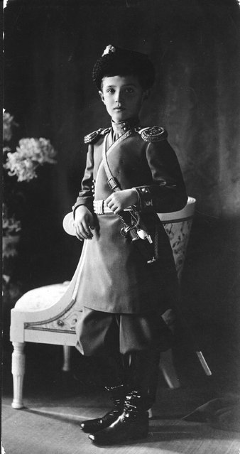Alexis, Tsarevich of Russia (1904–1918), the son of Emperor Nicholas II of Russia, circa 1913.  He was shot by the Red Guards in 1918.