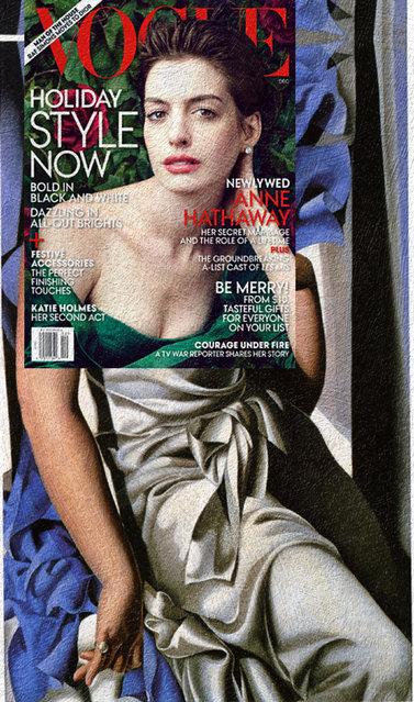 Quirky Magazine covers: Anne and Tamara. (Photo by Eisen Bernard Bernardo/Caters News)