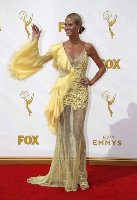 Model and television personality Heidi Klum arrives at the 67th Primetime Emmy Awards in Los Angeles, California September 20, 2015. (Photo by Mario Anzuoni/Reuters)