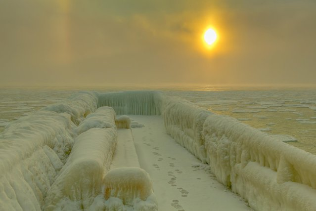 """I See Sea"" by Dmytriy Dokunov. The frozen Black Sea. Odessa, Ukraine; January, 2012. (Photo by Дмитрий Докунов)"