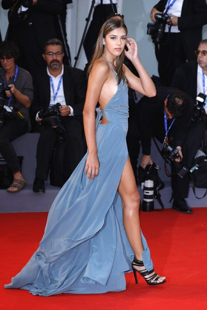 """Sistine Rose Stallone attends the premiere of """"Hacksaw Ridge"""" during the 73rd Venice Film Festival at Sala Grande on September 4, 2016 in Venice, Italy. (Photo by Andreas Rentz/Getty Images)"""