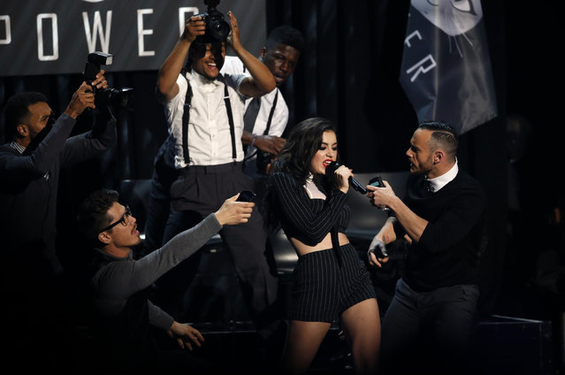 """Singer Charli XCX performs """"Fancy"""" and """"Beg For It"""" during the 42nd American Music Awards in Los Angeles. (Photo by Mario Anzuoni/Reuters)"""