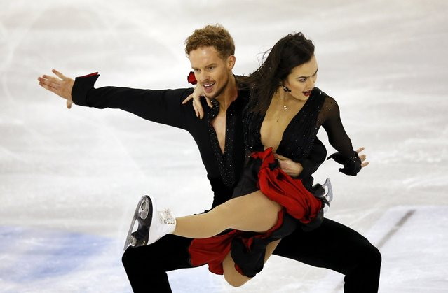 Madison Chock and Evan Bates of the U.S. perform during the Ice Dance short program at the ISU Grand Prix of Figure Skating final in Barcelona December 12, 2014. (Photo by Albert Gea/Reuters)