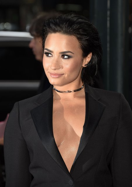 Demi Lovato attends Billboard's 10th Annual Women In Music at Cipriani 42nd Street on December 11, 2015 in New York City. (Photo by Grant Lamos IV/Getty Images)