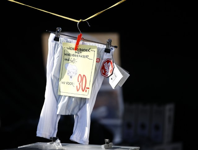 Windbreaker underpants are pictured in the Carinthian village of Techendorf January 29, 2015. (Photo by Leonhard Foeger/Reuters)