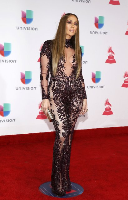Recording artist Jennifer Lopez arrives at the 17th Annual Latin Grammy Awards in Las Vegas, Nevada, U.S., November 17, 2016. (Photo by Steve Marcus/Reuters)
