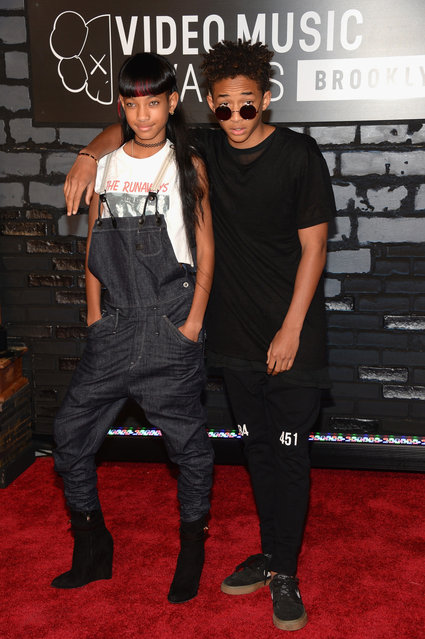 Willow Smith and Jaden Smith attend the 2013 MTV Video Music Awards at the Barclays Center on August 25, 2013 in the Brooklyn borough of New York City.  (Photo by Jamie McCarthy/Getty Images for MTV)