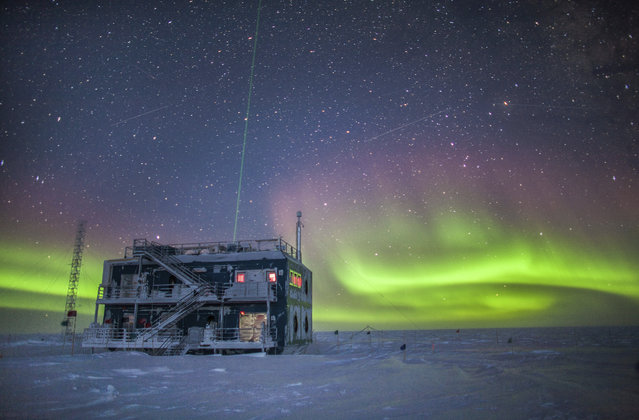 This undated photo provided by NOAA in May 2018 shows aurora australis near the South Pole Atmospheric Research Observatory in Antarctica. When a hole in the ozone formed over Antarctica, countries around the world in 1987 agreed to phase out several types of ozone-depleting chemicals called chlorofluorocarbons (CFCs). Production was banned, emissions fell and the hole shriveled. But according to a study released on Wednesday, May 16, 2018, scientists say since 2013, there's more of a banned CFC going into the atmosphere. (Photo by Patrick Cullis/NOAA via AP Photo)
