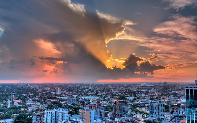 """""""Colorful rays"""". Miami, 2013. (Photo by lostINmia)"""