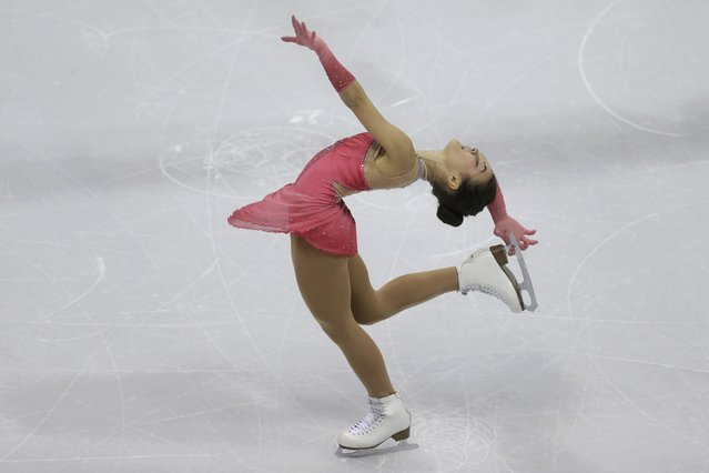 Ivett Toth of Hungary performs during the ladies short program at the ISU European Figure Skating Championship in Bratislava, Slovakia, January 27, 2016. (Photo by David W. Cerny/Reuters)