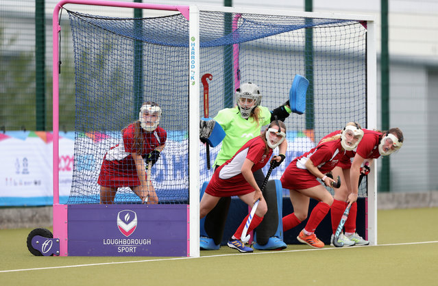England White vs England Red participate in the girls hockey tournament during day one of the School Games National Finals at Loughborough University, Loughborough, United Kingdom on Thursday, September 2, 2021. (Photo by Morgan Harlow/PA Images via Getty Images)