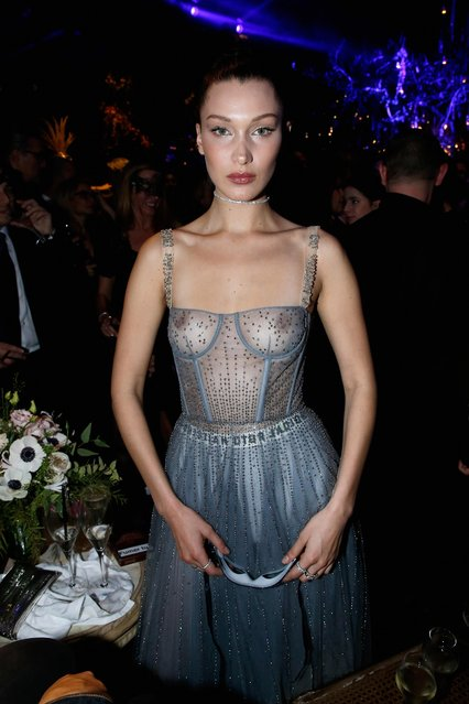 Bella Hadid attends the Christian Dior Haute Couture Spring Summer 2017 Bal Masque as part of Paris Fashion Week on January 23, 2017 in Paris, France. (Photo by Bertrand Rindoff Petroff/Getty Images for Dior)